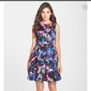Just Taylor Dress; floral/watercolor; knee length